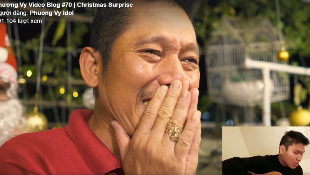 Cha Phuong Vy Idol bat khoc vi qua Giang Sinh bat ngo cua con gai hinh anh 6