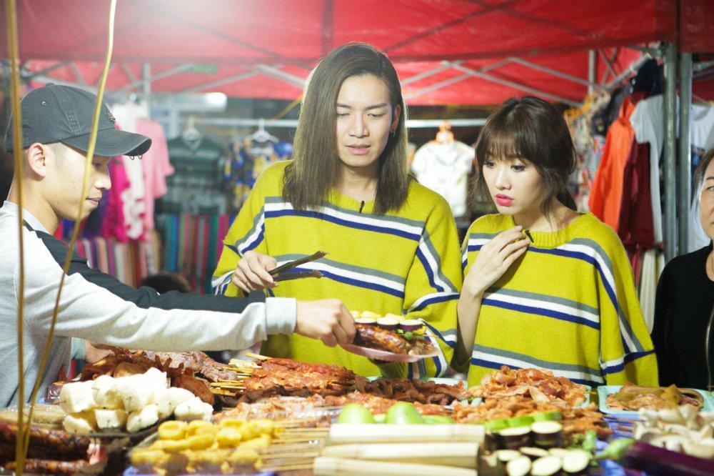 Hari Won 'tron chong', mac ao doi cung ban than Tran Thanh du lich Sapa hinh anh 5