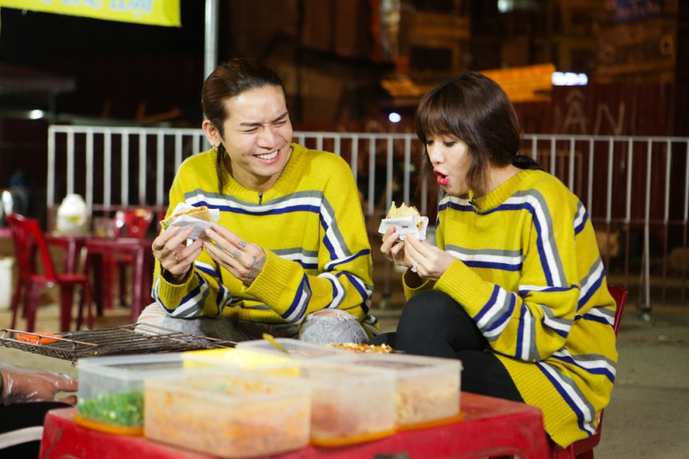 Hari Won 'tron chong', mac ao doi cung ban than Tran Thanh du lich Sapa hinh anh 7