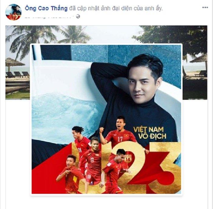 Mr. Dam 'quay' tung bung, sao Viet dong loat doi anh dai dien co vu U23 Viet Nam hinh anh 5