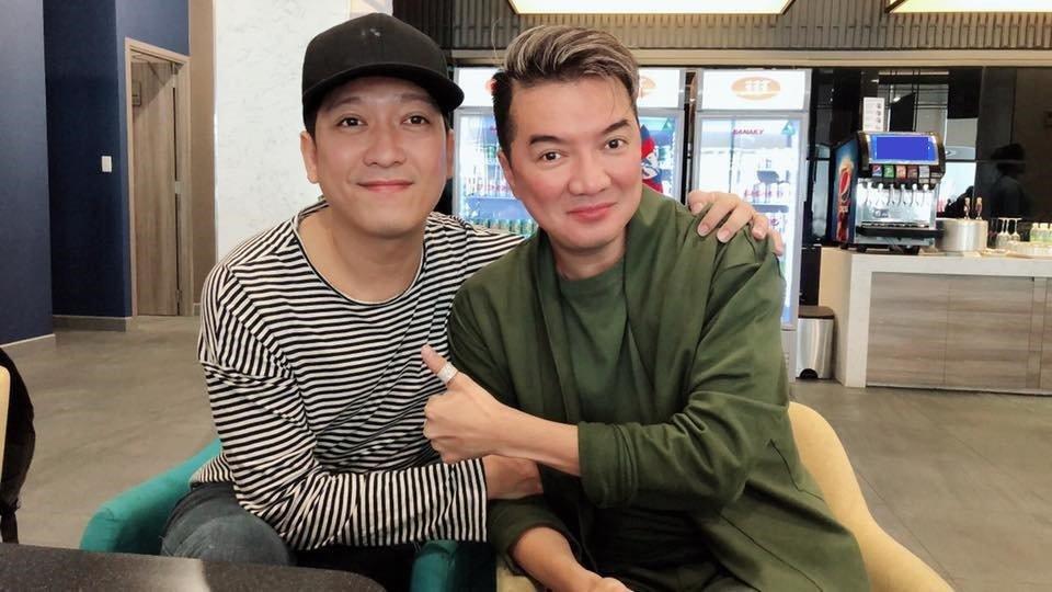 Truong Giang phan ung bat ngo khi gap Mr. Dam giua on ao voi Nam Em hinh anh 1