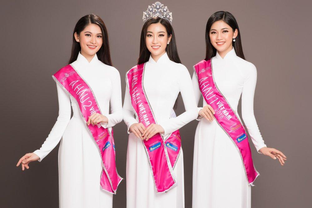 Top 3 Hoa hau Viet Nam 2016 dien ao dai trang khoe sac rang ro truoc khi het nhiem ky hinh anh 1