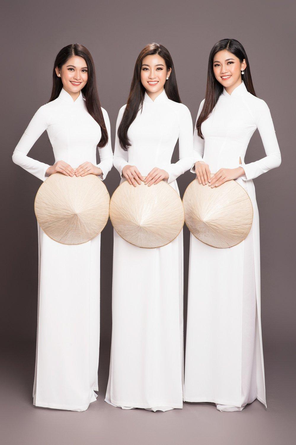 Top 3 Hoa hau Viet Nam 2016 dien ao dai trang khoe sac rang ro truoc khi het nhiem ky hinh anh 2