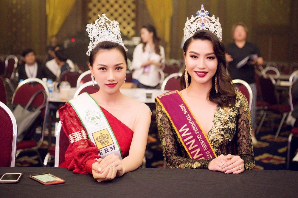 Giam khao Hoang Thu Thao khang dinh khong thien vi Dieu Linh tai 'Nu hoang Du lich Quoc te 2018' hinh anh 2