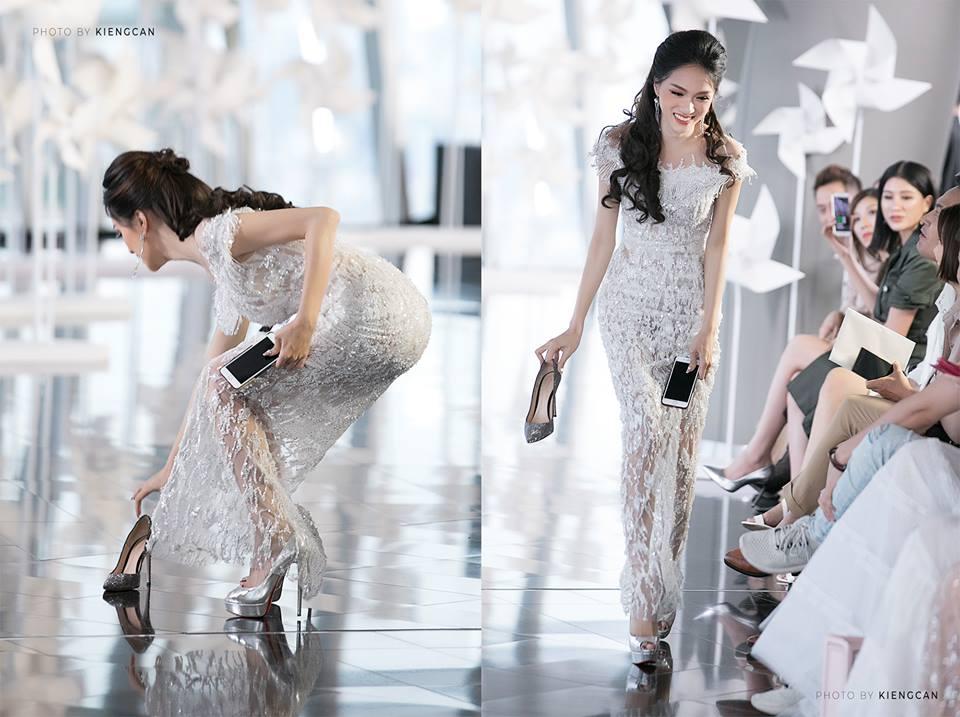 Hoa hau Huong Giang nhat giay cho Minh Tu tren san catwalk hinh anh 1