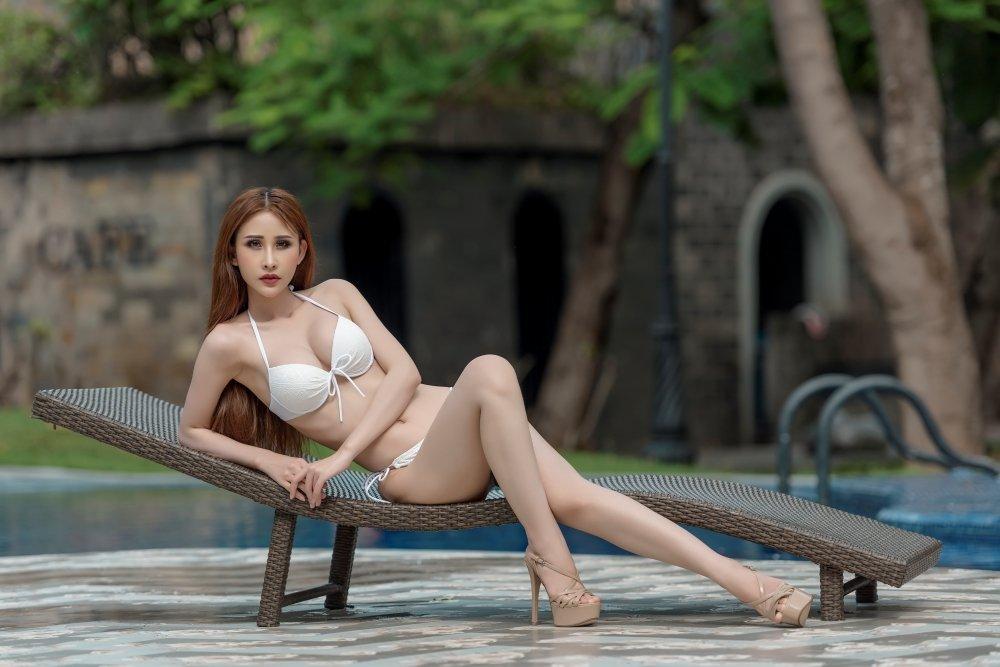 Chi Nguyen khoe vong eo 58cm truoc phan thi bikini cua 'Hoa hau Chau A The gioi 2018' hinh anh 1