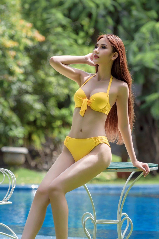 Chi Nguyen khoe vong eo 58cm truoc phan thi bikini cua 'Hoa hau Chau A The gioi 2018' hinh anh 5