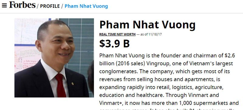 Nhung khoi tien ty USD cua ty phu Viet, Forbes khong ngo toi hinh anh 1