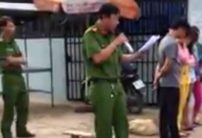 Cong an Kien Giang chán chỉnh vụ beu ten nguòi bán dam giũa phó hinh anh 1