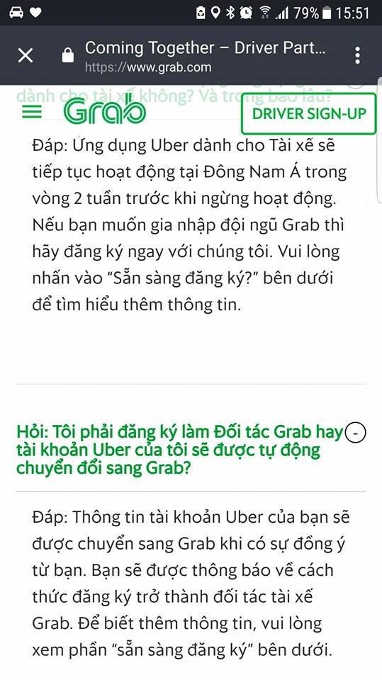 Lo chuyen Uber sap nhap Grab, tai xe tim den van phong hinh anh 3