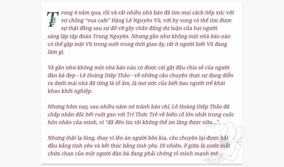 My nhan Le Hoang Diep Thao: '49 ngay nhin an da cuop di Dang Le Nguyen Vu tuyet voi cua toi' hinh anh 1