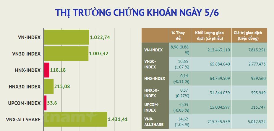Dong tien tang manh dat 8.755 ty dong, VN-Index vuot moc 1.020 diem hinh anh 2