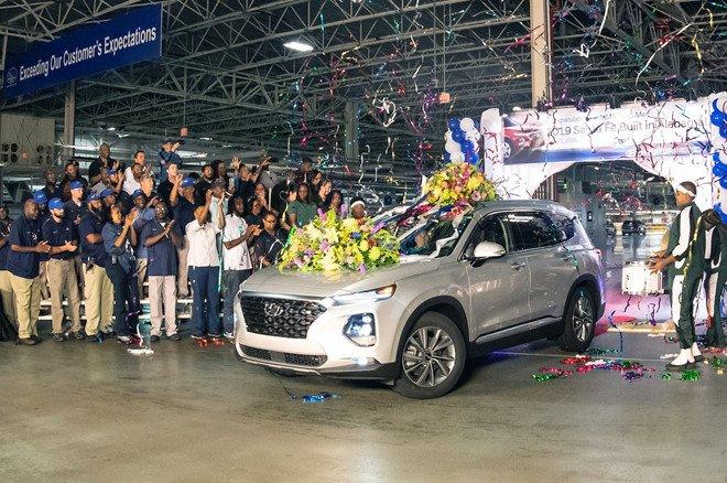 Hyundai Santa Fe 2019 chinh thuc di vao san xuat hinh anh 1