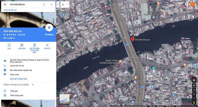 Cay cau 'vinh biet Bitcoin' o Sai Gon tren Google Maps hinh anh 1