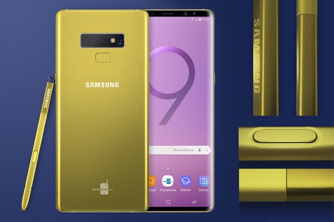 Galaxy Note 9 lo dien voi mau vang ruc doc dao hinh anh 2