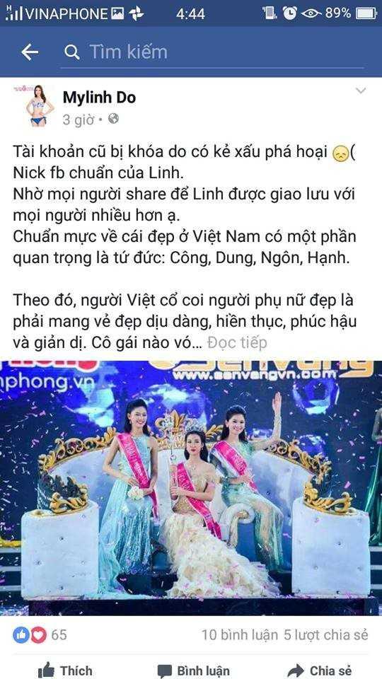 Xuat hien hang loat ke mao danh, Hoa hau Viet Nam 2016 khoa facebook hinh anh 2