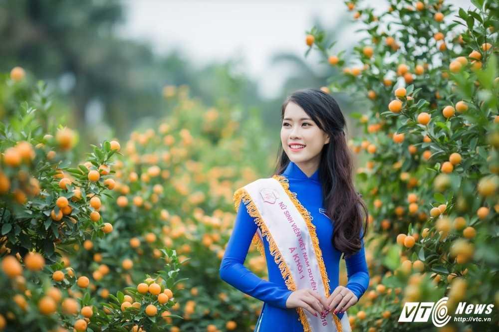 'Ban sao' hot girl Chi Pu khoe sac tham ben dao Xuan hinh anh 4