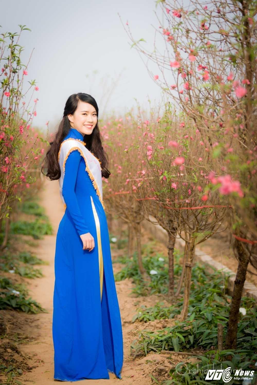 'Ban sao' hot girl Chi Pu khoe sac tham ben dao Xuan hinh anh 8
