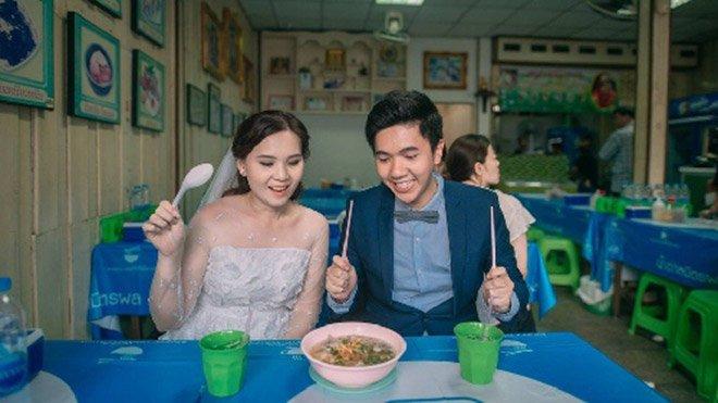 Anh cuoi cua cap doi Thai Lan me... an uong gay 'sot' hinh anh 3