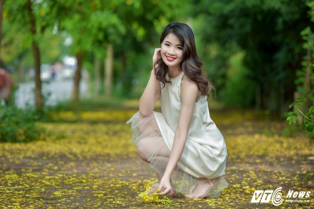 Nu sinh DH Thai Nguyen cao nhu sieu mau dep cuon hut trong bo anh moi hinh anh 3