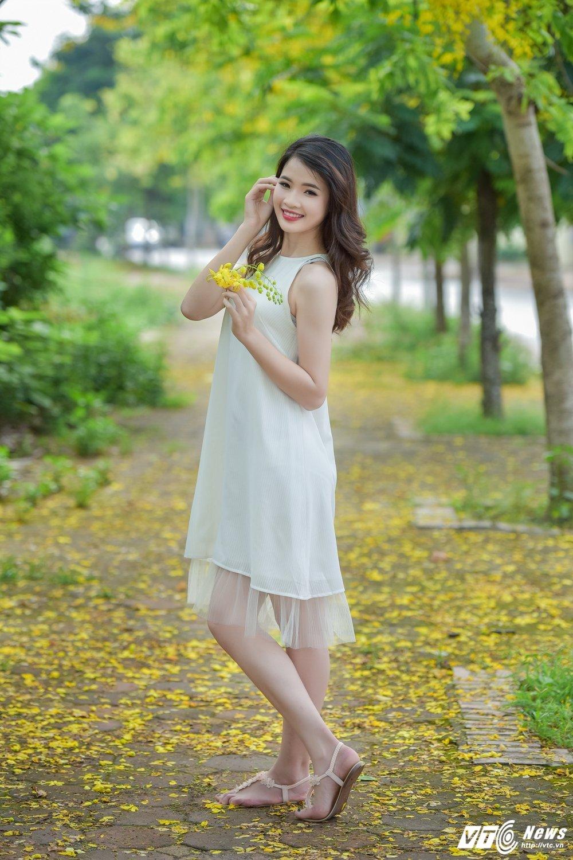 Nu sinh DH Thai Nguyen cao nhu sieu mau dep cuon hut trong bo anh moi hinh anh 4