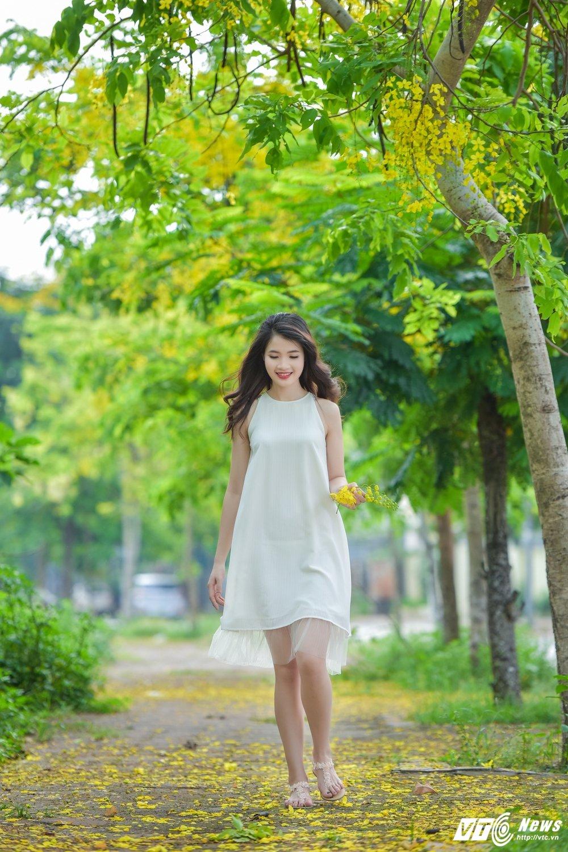 Nu sinh DH Thai Nguyen cao nhu sieu mau dep cuon hut trong bo anh moi hinh anh 5