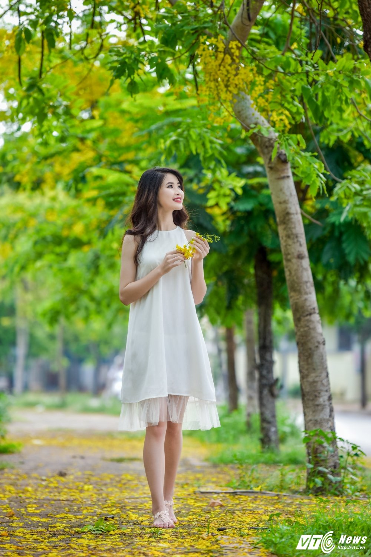 Nu sinh DH Thai Nguyen cao nhu sieu mau dep cuon hut trong bo anh moi hinh anh 8