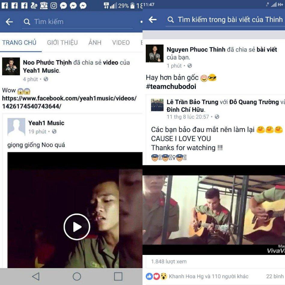 Nam sinh an ninh dien trai cover 'Cause I love you' khien Noo Phuoc Thinh thich thu chia se hinh anh 1