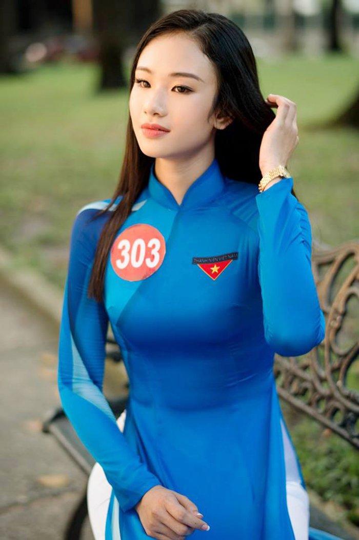 Ngam nhung nu sinh noi bat nhat chung ket Hoa khoi Sinh vien Viet Nam 2017 hinh anh 12