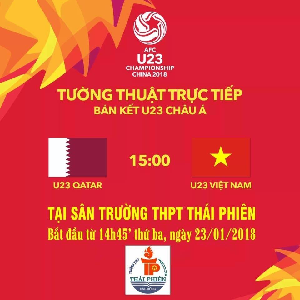 Truong THPT Thai Phien chieu bong da co vu U23 Viet Nam ngay tai truong hinh anh 1