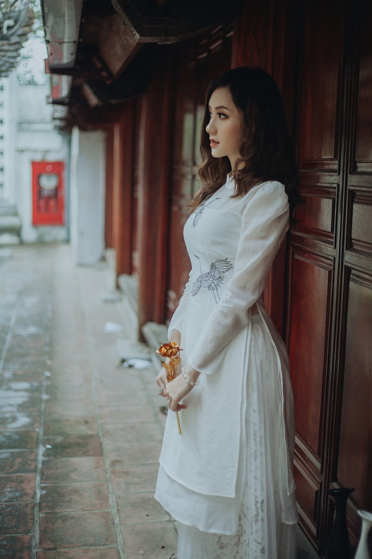 Hot girl Dai hoc Kiem sat xinh dep nho ky niem cha cong di choi dip Tet hinh anh 7