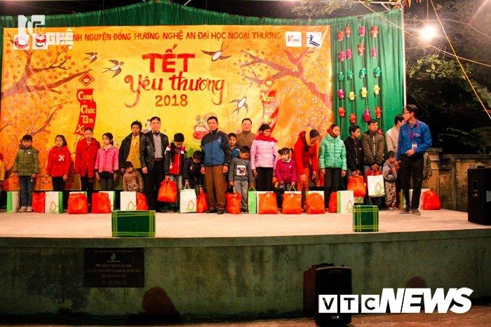 Sinh vien Ngoai Thuong trao qua Tet cho hoc sinh ngheo Hoa Binh hinh anh 8