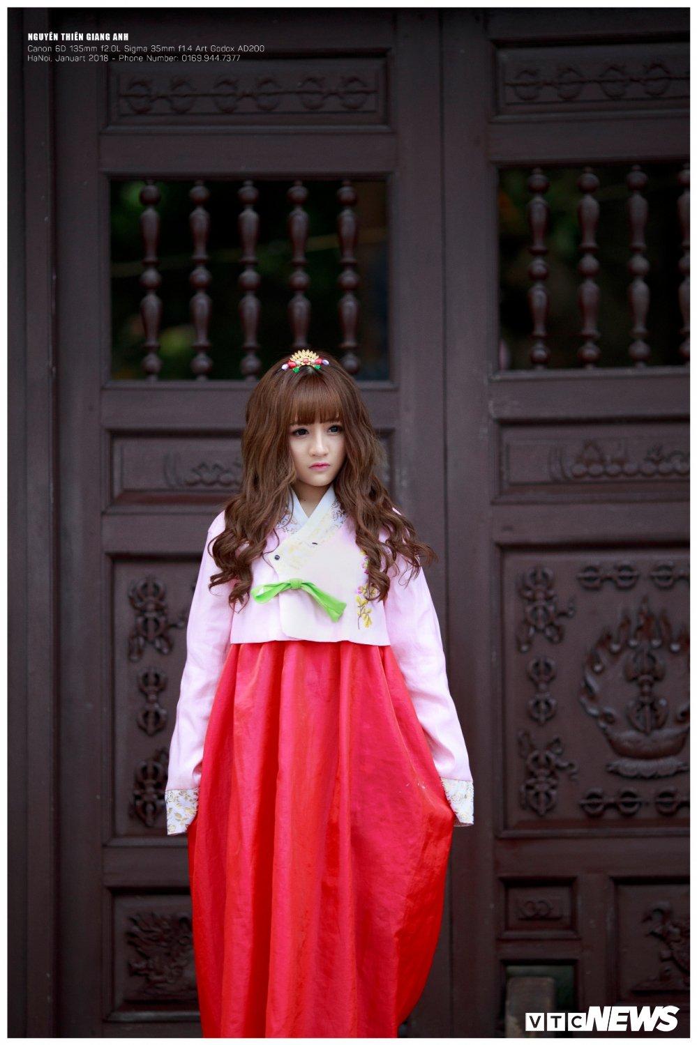Hot girl Ha Tinh xinh dep trong trang phuc Hanbok khien bao chang trai me man hinh anh 6