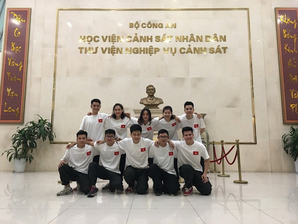 Truong cong an duy nhat tham gia cuoc thi nhay toan quoc hinh anh 10