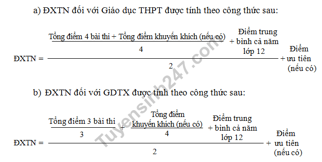 Cach tinh diem tot nghiep THPT Quoc gia 2018 hinh anh 1