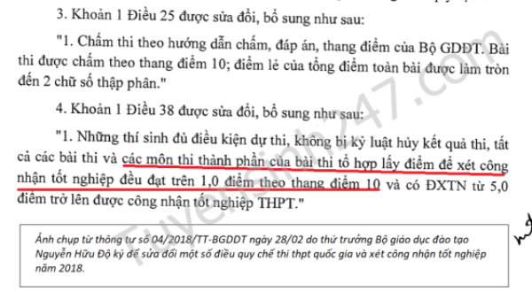 Thi THPT Quoc gia 2018: Diem liet duoc tinh nhu the nao? hinh anh 1