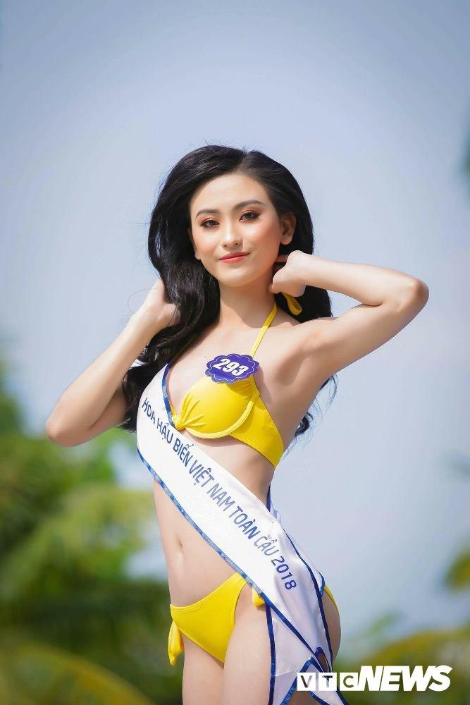 Dan thi sinh Hoa hau Bien VN 'dot mat' nguoi xem trong trang phuc bikini hinh anh 13