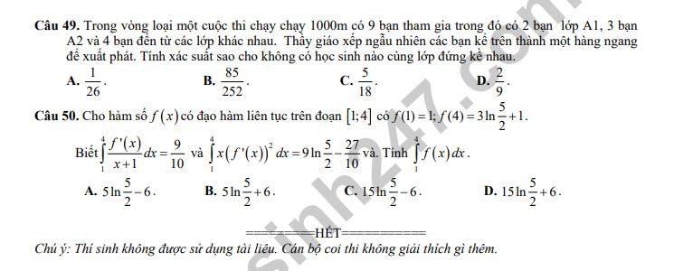 De thi thu mon Toan ky thi THPT Quoc gia 2018 – THPT Tran Nhan Tong hinh anh 6
