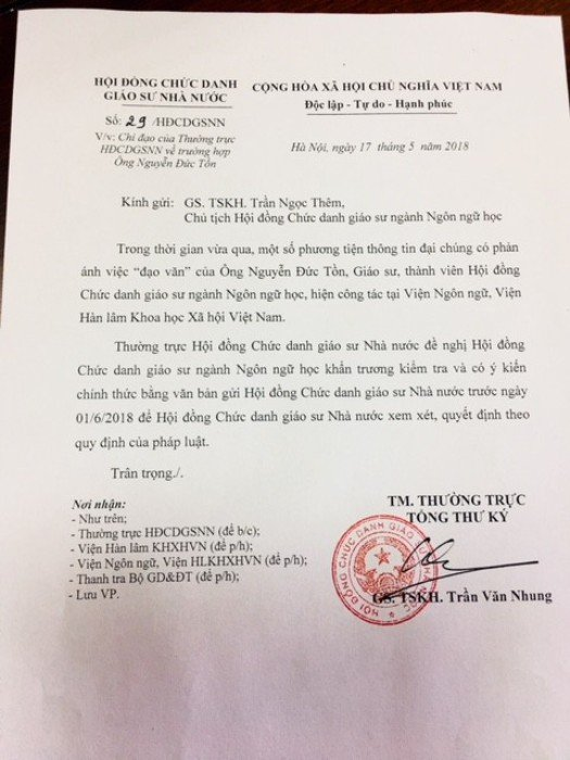 Nghi van GS Nguyen Duc Ton dao van: 'Can toa an can thiep, xac minh' hinh anh 2
