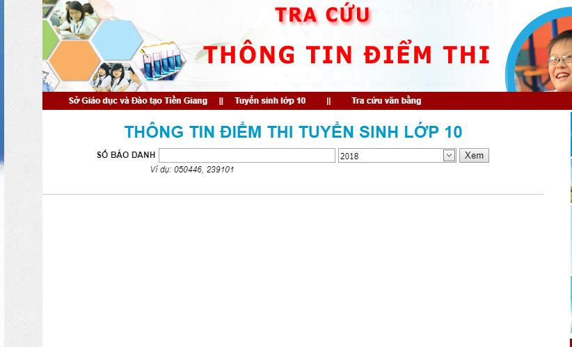 Tra cuu diem thi vao lop 10 Tien Giang nam 2018 hinh anh 1