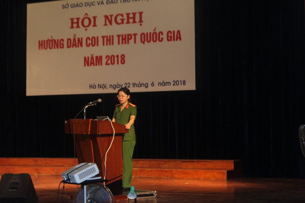 Thi THPT Quoc gia 2018: Cong an TP Ha Noi cung cap so dien thoai duong day nong hinh anh 1