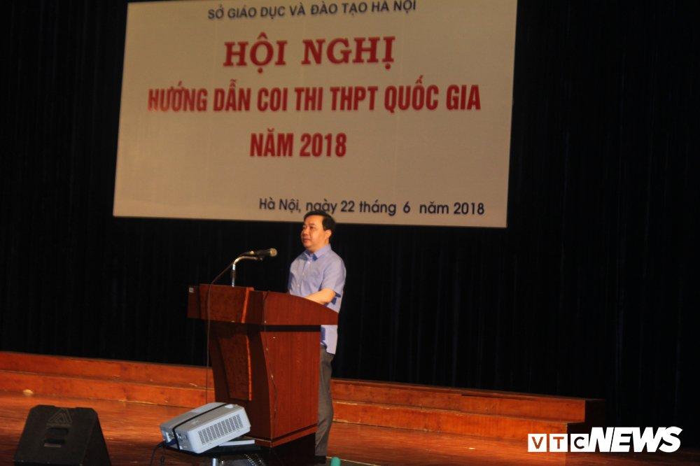 Giam doc So GD-DT Ha Noi khuyen thi sinh truoc ngay thi THPT Quoc gia 2018 hinh anh 1