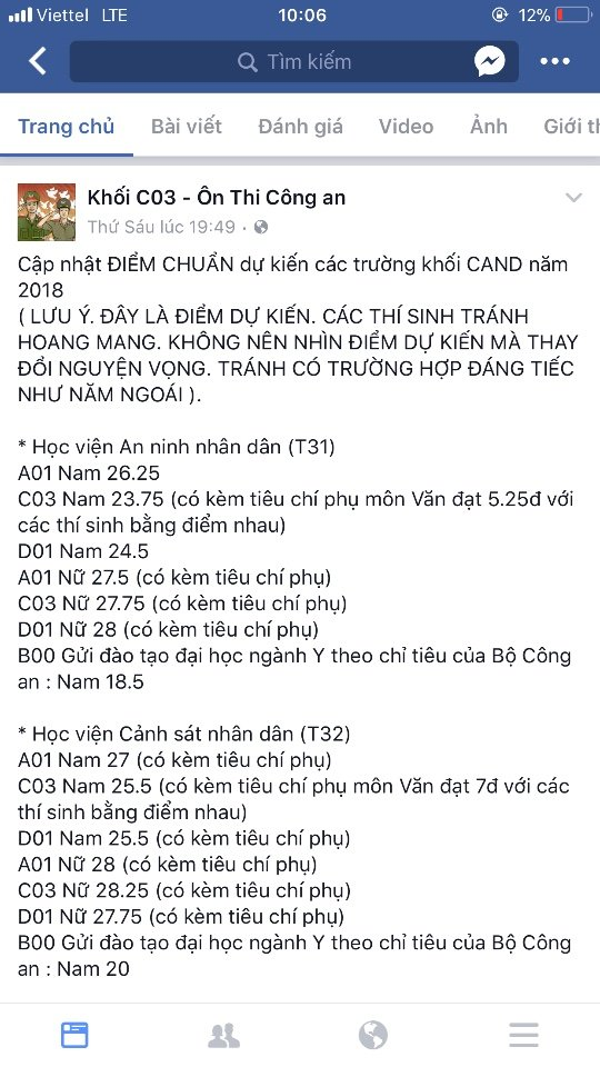 Bo Cong an bac thong tin da cong bo diem chuan cac truong CAND hinh anh 1