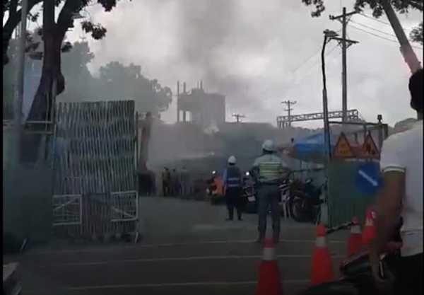 TP.HCM: Cháy lón tại cong ty dóng tàu Ba Son hinh anh 1