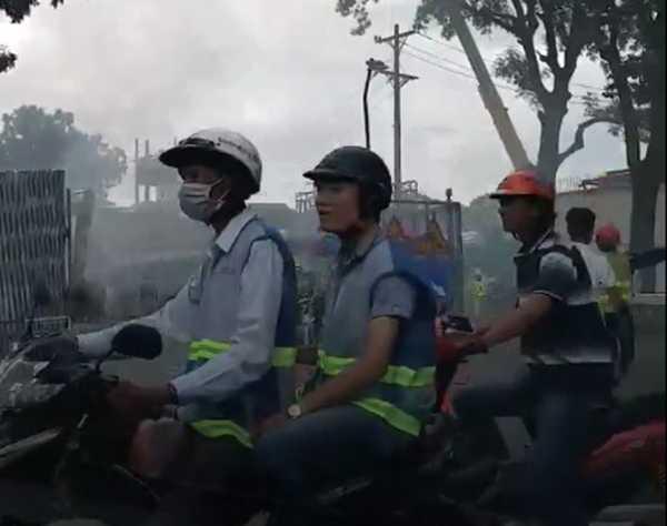 TP.HCM: Cháy lón tại cong ty dóng tàu Ba Son hinh anh 2