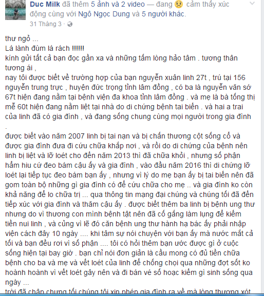 Chang trai bai liet 2 chan cham soc ban liet tu chi o benh vien hinh anh 3