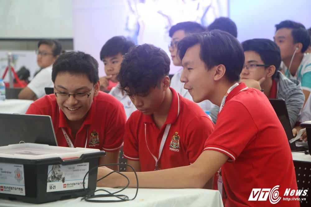 Nhung khoanh khac an tuong tai chung ket Robotacon Viet Nam 2017 hinh anh 6