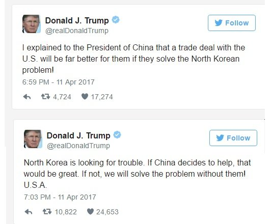 Ong Trump noi co the giai quyet van de Trieu Tien ma khong can Trung Quoc hinh anh 1