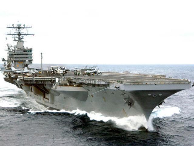 Tau san bay USS Carl Vinson bat dau tap tran voi tau khu truc Nhat Ban hinh anh 1