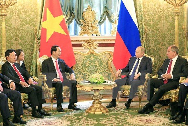 Chu tich nuoc Tran Dai Quang hoi dam voi Tong thong Nga Putin hinh anh 2
